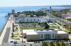Belem Tower and Museu de Arte Popular, Lisbon, Portugal Royalty Free Stock Image