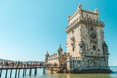 Belem Tower Of Saint Vincent Torre De Belem Is A Fortified Tower And UNESCO World Heritage Site Built In 1519 Royalty Free Stock Photography