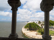 The Belem Tower, one of the most famous and visited landmarks in Portugal Stock Photo