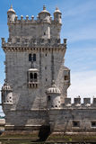 Belem tower over blue sky with clouds Royalty Free Stock Images