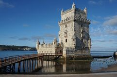 Belem Tower. Portugal. Belem Tower and river Tagus Royalty Free Stock Photography