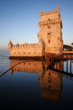 Belem Tower at Sunrise in Lisbon Stock Photography