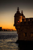 Belem Tower Sunset Royalty Free Stock Photography