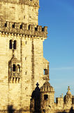 Belem Tower in sunset light Stock Images