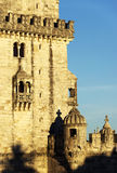 Belem Tower in sunset light Royalty Free Stock Image