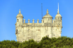 Belem Tower in sunset light Royalty Free Stock Photography