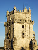 Belem Tower in sunset light Stock Photography