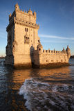 Belem Tower at Sunset Royalty Free Stock Photos