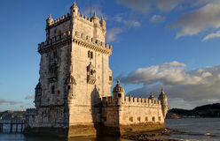 Belem Tower. Sunset view of Belem Tower in Lisbon, Portugal Stock Photography