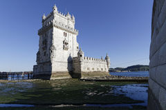 Belem tower and Tagus Royalty Free Stock Images