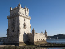 Belem tower and Tagus river Stock Photo