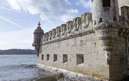 Belem tower on Tagus river, Belem, Lisbon, Portugal. Stock Photography