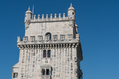 Belem Tower on the Tagus river Royalty Free Stock Photos