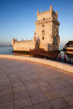 Belem Tower on the Tagus river in Lisbon Royalty Free Stock Photo