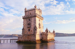 Belem Tower of Tagus river in the Lisbon Stock Photo