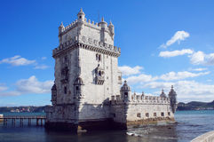 Belem Tower of Tagus river in the Lisbon Royalty Free Stock Photography