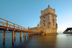 Belem Tower. The Belem Tower on the Tagus River. Lisbon, Portugal Royalty Free Stock Photo