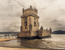 Belem Tower on the Tagus river in Lisbon Royalty Free Stock Photography