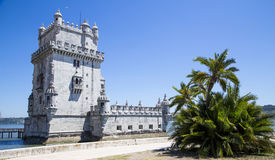 Belem Tower on the Tagus river, lisbon, portugal Royalty Free Stock Photography