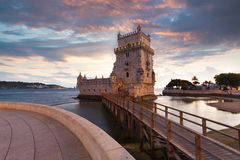 Belem Tower on the Tagus River. Royalty Free Stock Image
