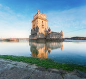 Belem Tower on the Tagus River. Royalty Free Stock Photos