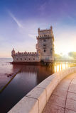 Belem Tower on the Tagus River. Royalty Free Stock Photo