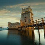 Belem Tower on the Tagus River. Stock Photos