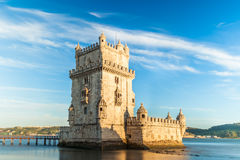 Belem tower - Torre de Belem  in Lisbon, Portugal Stock Photo