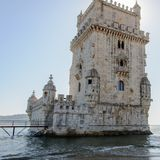 Belem Tower ( Torre de Belem) in Lisbon, Portugal Stock Photos