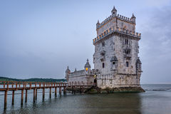 Belem tower or Torre De Belem in Lisbon, Portugal. Stock Images