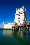 Belem Tower or the Tower of St Vincent is a fortified tower loca Royalty Free Stock Photo