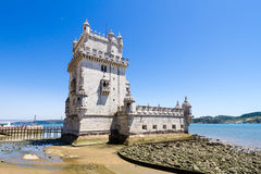 Belem Tower or the Tower of St Vincent is a fortified tower loca Stock Photos