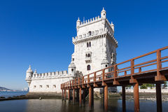 Belem Tower or the Tower of St Vincent in Lisbon, Portugal Stock Image