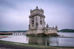 Belem-Turm oder Torre De Belem in Lissabon, Portugal Stockbild