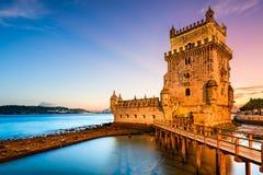 Belem-Turm in Portugal lizenzfreies stockbild