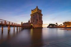 Belem-Turm von Lissabon, Portugal stockbilder