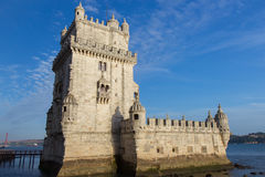 Belem wierza na Tagus rzece Fotografia Royalty Free