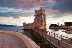 Belem wierza na Tagus rzece Obraz Royalty Free