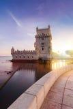 Belem wierza na Tagus rzece Zdjęcie Royalty Free
