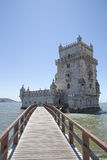 Belem wierza na Tagus rzece, Lisbon, Portugal Zdjęcie Stock
