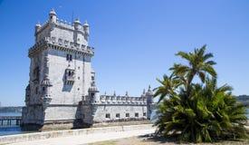 Belem wierza na Tagus rzece, Lisbon, Portugal Fotografia Royalty Free