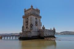 Belem wierza na Tagus rzece w Lisbon, Portugalia Zdjęcia Royalty Free