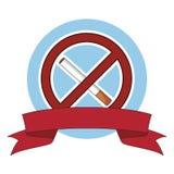 Belemmerd rokend teken royalty-vrije illustratie