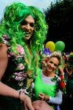 Belemmering Quenn en meisje Royalty-vrije Stock Fotografie