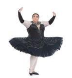 Belemmeringskoningin die in een tutu dansen Royalty-vrije Stock Foto's