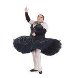 Belemmeringskoningin die in een tutu dansen Royalty-vrije Stock Afbeeldingen