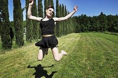 Belemmeringskoningin het springen Stock Afbeelding