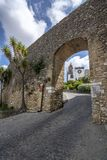 Belen gate of the ancient wall of Medina Sidonia. Medinia Sidonia, Cadiz, Spain, July 2017: Belen gate of the ancient wall of Medina Sidonia royalty free stock photography