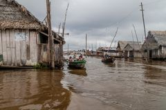 Belen neighborhood of Iquitos stock photo