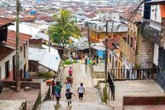 Belen Neighborhood in Iquitos, Peru stock photos